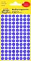Kulaté etikety Avery Zweckform - fialové, průměr 8 mm, 416 ks