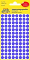 Kulaté etikety Avery Zweckform - průměr 8 mm, fialová