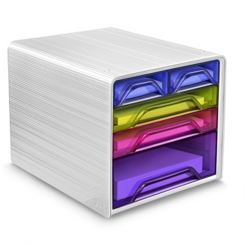 Zásuvkový box Cep Smoove, 5 zásuvek, barevný