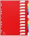 Plastový rozlišovač Exacompta MAXI - A4+, barevný, 12 listů