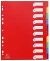 Plastový rozlišovač Exacompta MAXI - A4+, barevný, 10 listů
