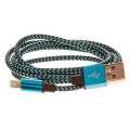 CELLFISH Lightning kabel pletený, modrý