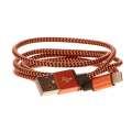 CELLFISH Lightning kabel pletený, oranžový
