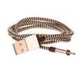 CELLFISH Lightning kabel pletený, stříbrný