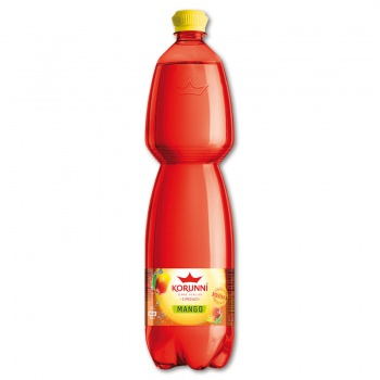 Ochucená minerální voda Korunní - mango, 6 x 1,5 l