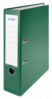 Pákový pořadač Niceday - A4, s kapsou, plastový, hřbet 7,5 cm, zelený