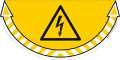 Bezpečnostní samolepka - Nebezpečí úrazu proudem