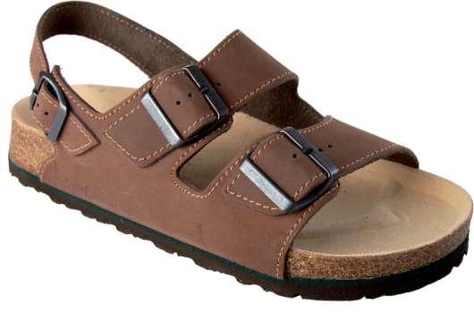 685bdc7818e0 Korkové sandále FENIX - hnědá