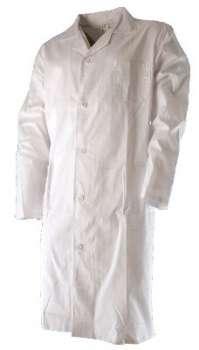 ac998f39867 Pánský bavlněný plášť ERIK bílý vel. 60