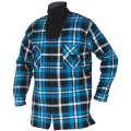 Flanelová pracovní košile ZIMNÍ JONAH - modrá, vel.XL