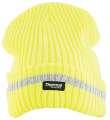 Čepice zimní pletená+fleece hi-viz SPARK - žlutá
