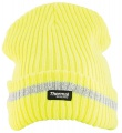 Zimní pletená fleece čepice hi-viz SPARK - žlutá