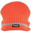 Zimní pletená fleece čepice hi-viz SPARK - oranžová