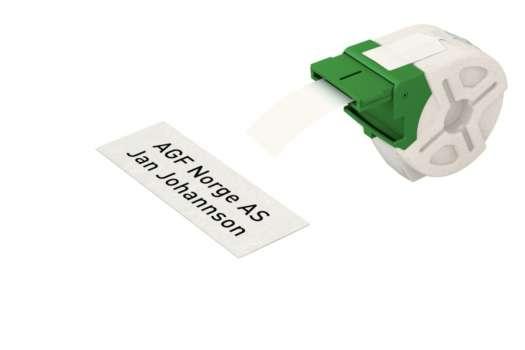 Papírová páska Leitz Icon bez lepidla - bílá, šířka 32 mm, návin 22 m, černé písmo