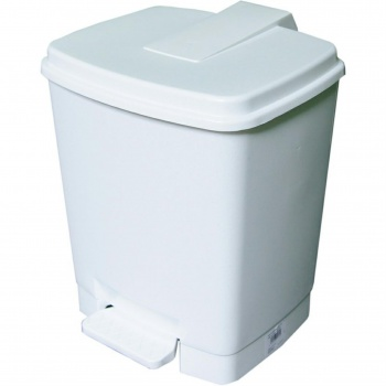 Koš odpadkový, nášlapný, 14 l, bílý