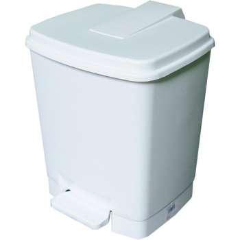 Odpadkový koš, nášlapný, 14 l, bílá