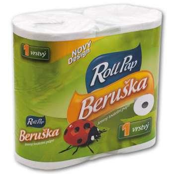 Toaletní papír Prima Rollo klasik - jednovrstvý, 20 m, 4 role