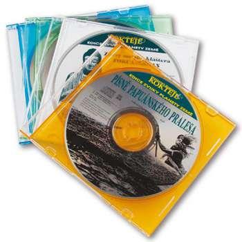 Box na CD/DVD Slim, mix barev, 1 ks