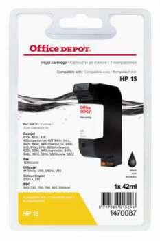 Cartridge Office Depot HP C6615D/15 - černá