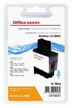 Cartridge Office Depot Brother LC900C - azurová