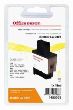 Cartridge Office Depot Brother LC900Y - žlutá