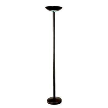 Stojací lampa halogenová, černá
