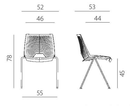 Konferenční židle Strike - šedá