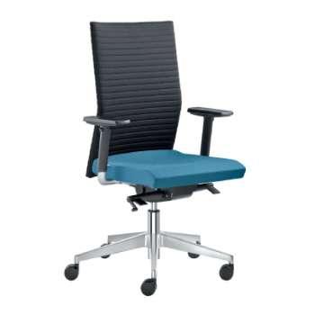 Kancelářská židle Element synchro - černá/modrá