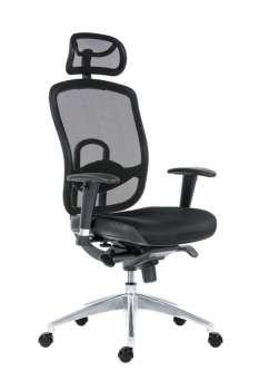 Kancelářská židle Oklahoma synchro - černá