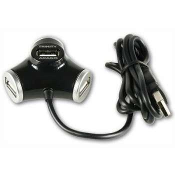 USB rozbočovač Axago - černý