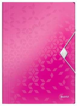 Desky na dokumenty s chlopněmi a gumičkou LEITZ WOW - A4,...