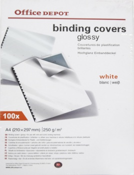 Kartony pro kroužkovou vazbu Office Depot - A4, bílé,...