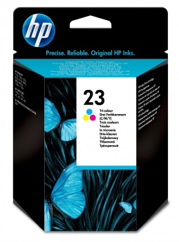 Cartridge HP C1823D/23 - tříbarevná