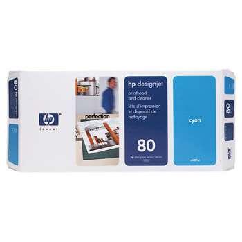 Tisková hlava a čistič tiskové hlavy HP C4821A/80 - azurová