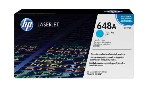 Toner HP CE261A/648A - azurový