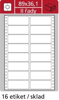 Samolepicí tabelační etikety SK Label - dvouřadé, 89,0 x 36,1...