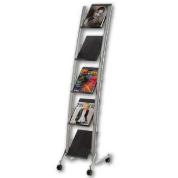 Prezentační stojan Alba - mobilní, A4, 5 přihrádek