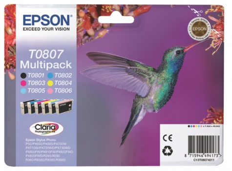 Sada cartridge Epson T0807 - 6 barev