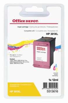 Cartridge Office Depot HP CH564EE/301XL - tříbarevná