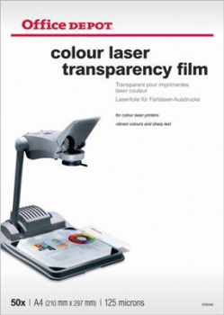 Fólie pro barevné laserové tiskárny Office Depot,50 ks