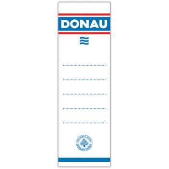 Zasouvací etikety pro pákové pořadače Donau, 7,5 cm, 20 ks