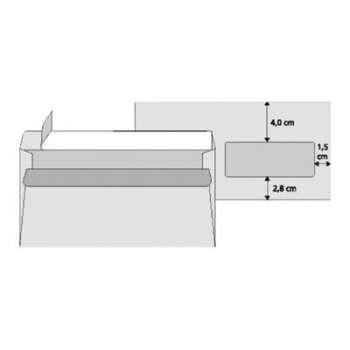 Obálky Office Depot - DL, s okénkem, samolepicí, 50 ks