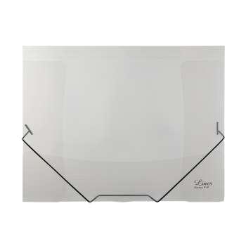 Desky s chlopněmi a gumičkou A4, čiré, 5 ks