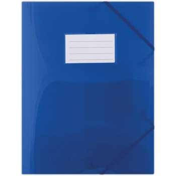 Desky Donau s chlopněmi a gumičkou A4, modré
