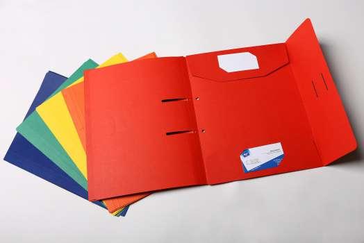 Papírové desky do pákového pořadače HIT - A4, mix barev, 6 ks