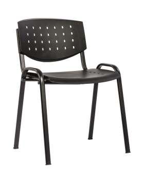 Konferenční židle - černá, plastová