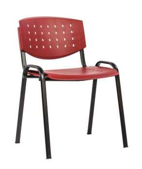 Konferenční židle Taurus - plastová, bordó