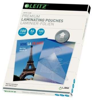 Laminovací kapsy Leitz - A4, 2x 100 mikronů, čiré, 100 ks
