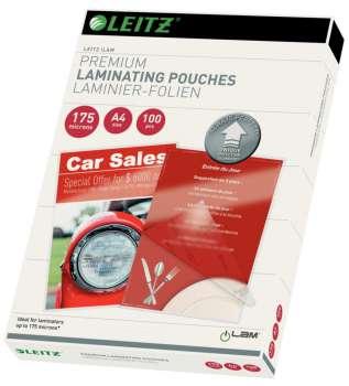 Laminovací kapsy Leitz - A4, 2x 175 mikronů, čiré, 100 ks
