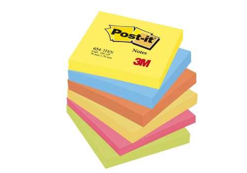 Bloček Post-it barevný 76x76 mm, energie